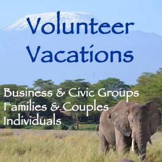 Volunteer Vacations for business and civic groups families couples and individuals