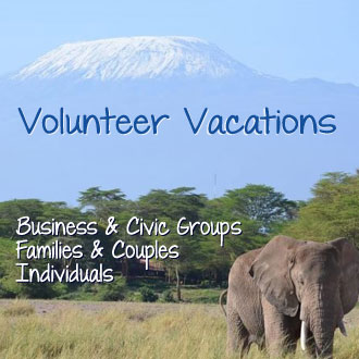 Volunteer Vacations for business and civic groups families and individuals